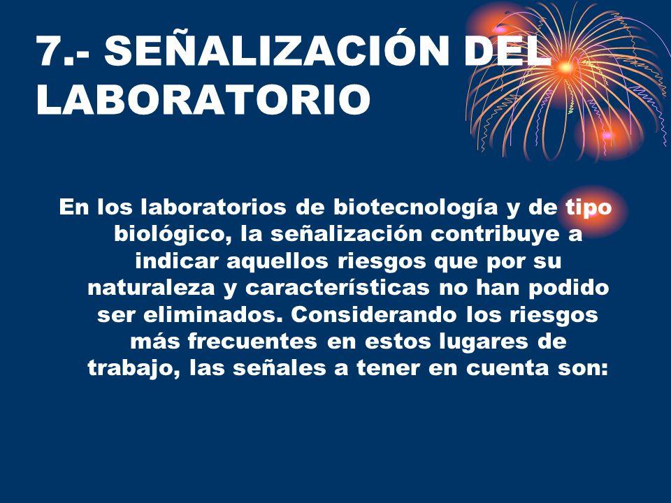 7.- SEÑALIZACIÓN DEL LABORATORIO