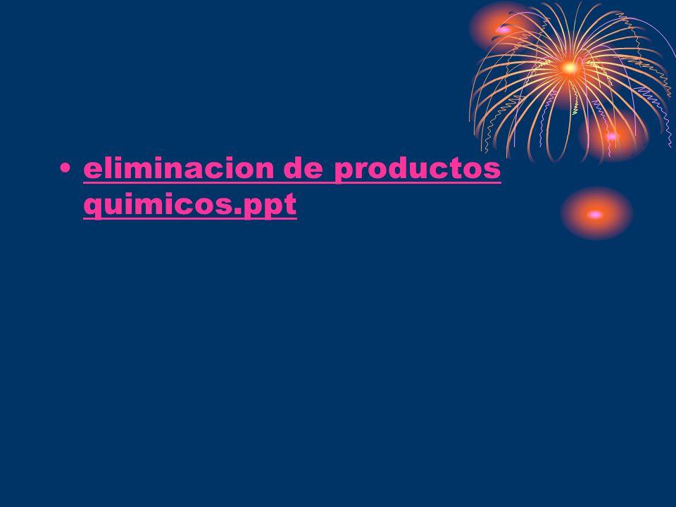 eliminacion de productos quimicos.ppt