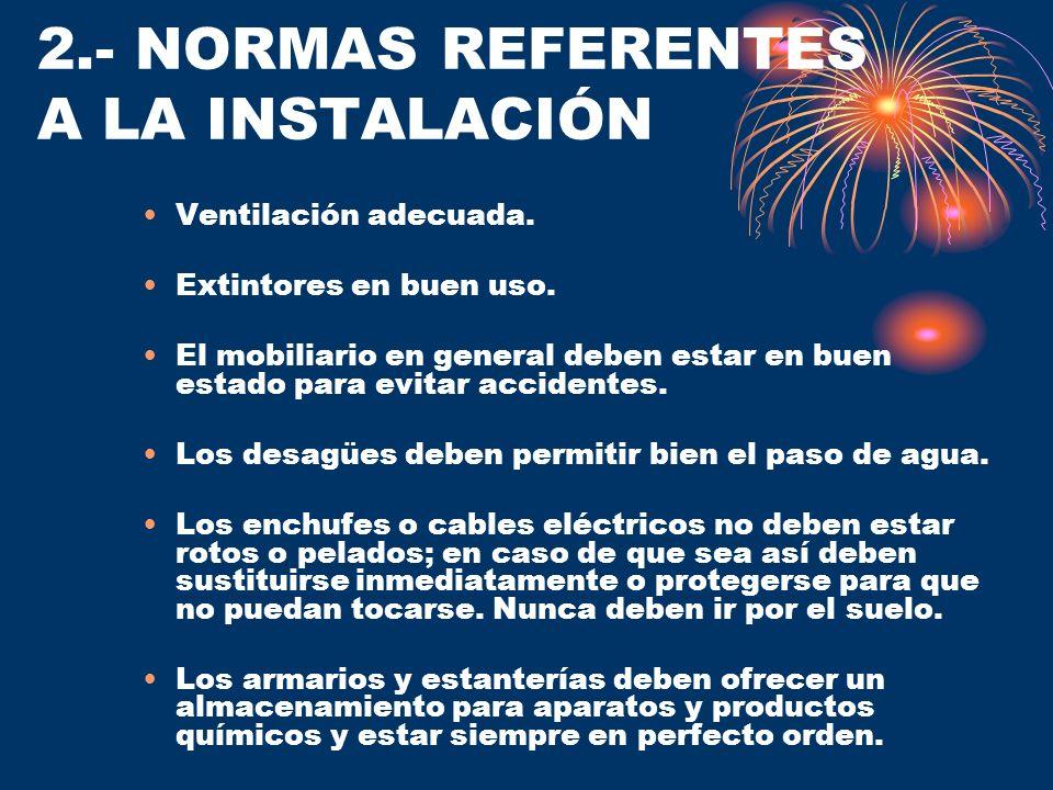2.- NORMAS REFERENTES A LA INSTALACIÓN