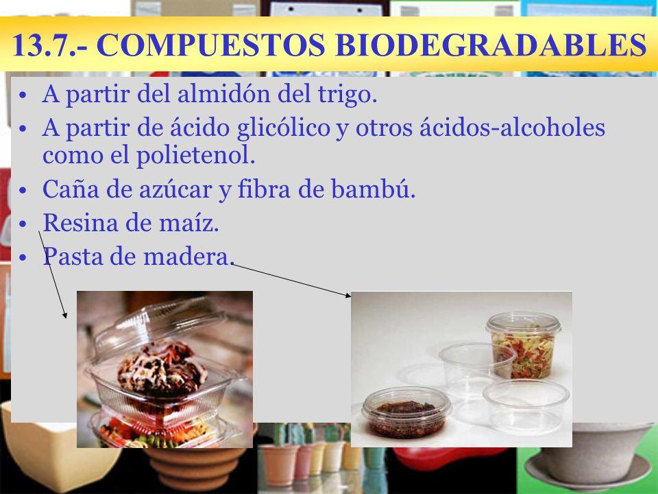 13.7.- COMPUESTOS BIODEGRADABLES