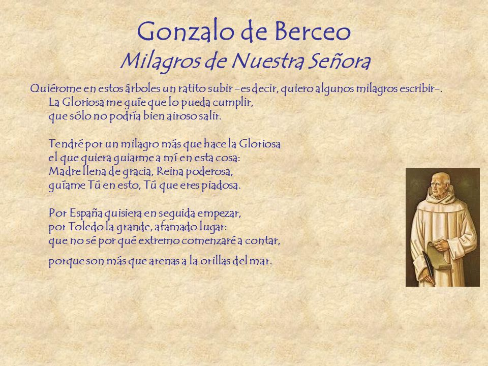 Gonzalo de Berceo Milagros de Nuestra Señora