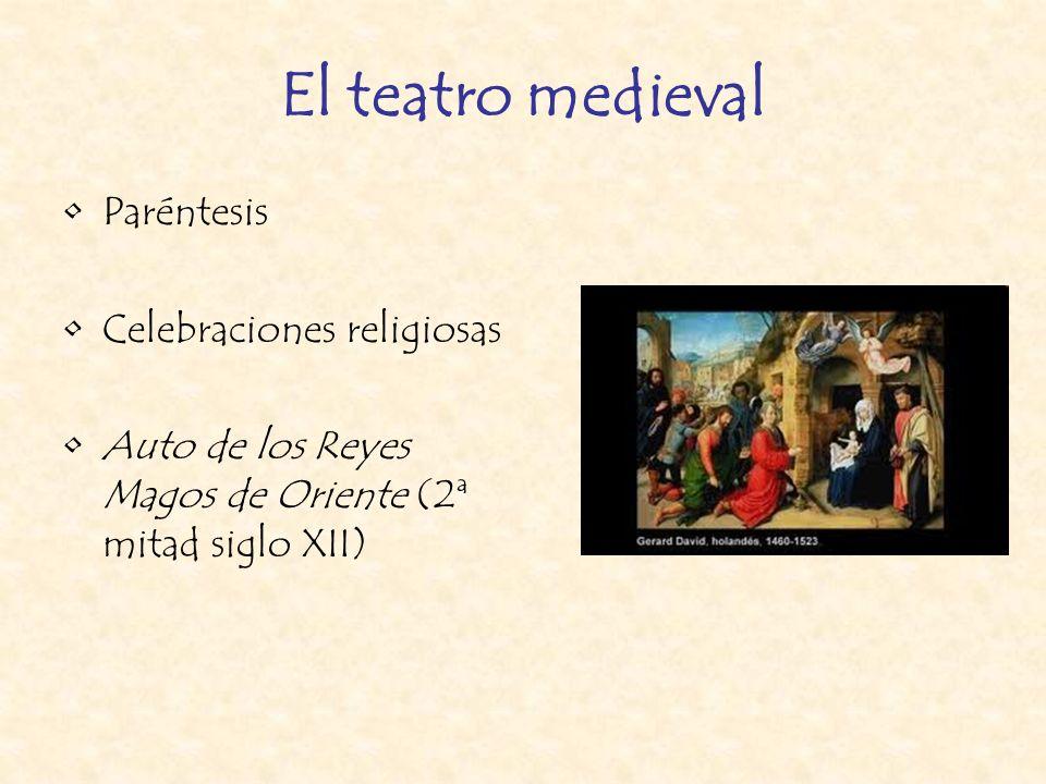El teatro medieval Paréntesis Celebraciones religiosas