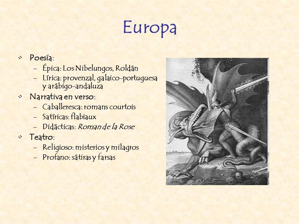 Europa Poesía: Narrativa en verso: Teatro: