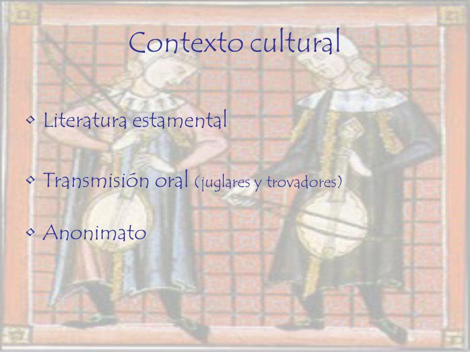 Contexto cultural Literatura estamental