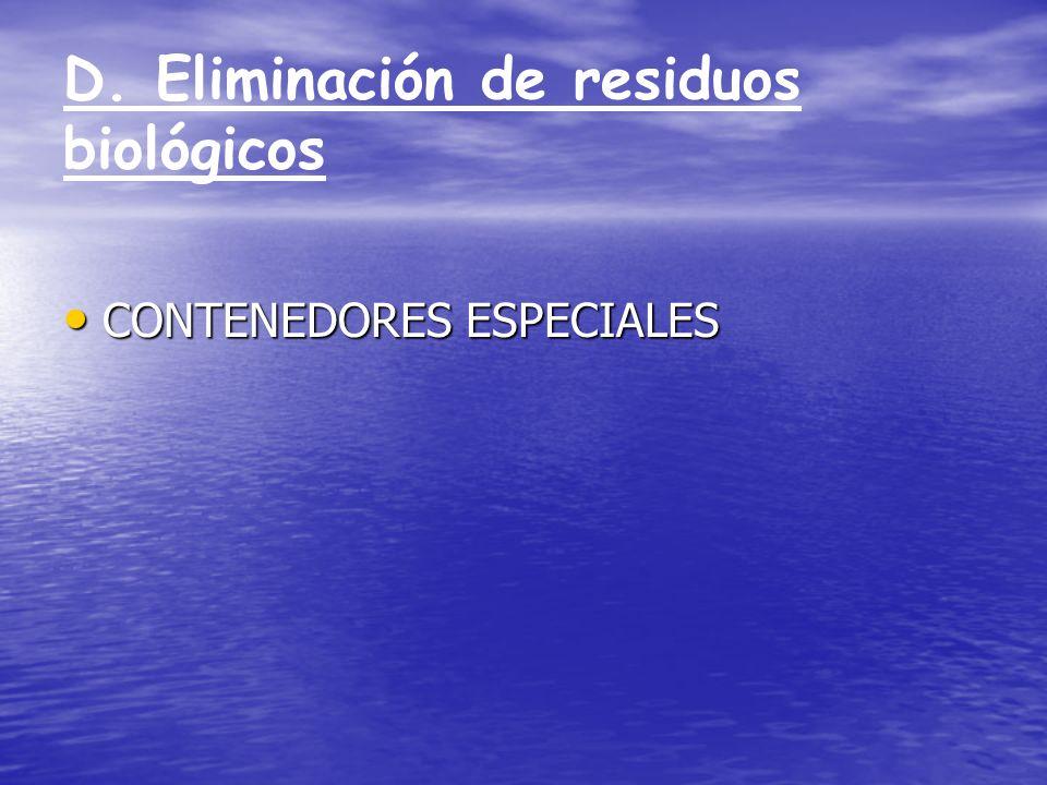 D. Eliminación de residuos biológicos