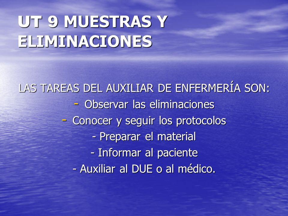 UT 9 MUESTRAS Y ELIMINACIONES