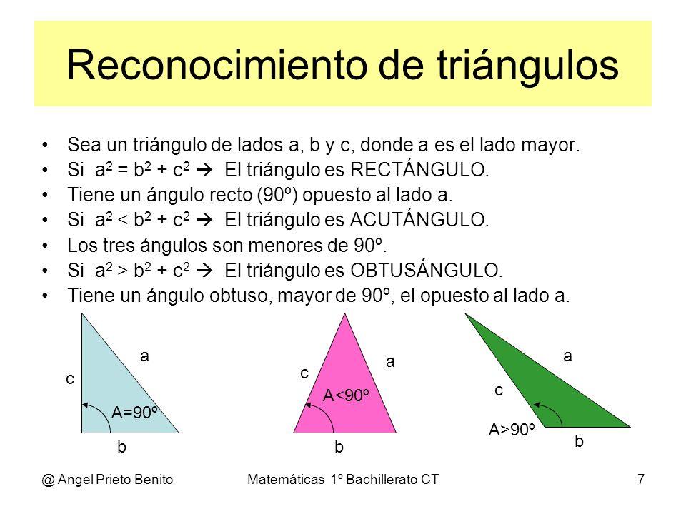 Reconocimiento de triángulos
