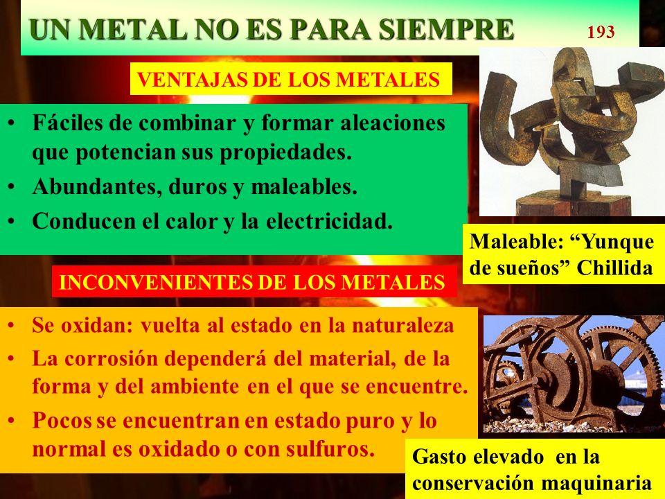 UN METAL NO ES PARA SIEMPRE 193
