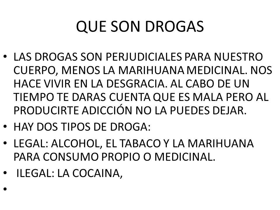 QUE SON DROGAS