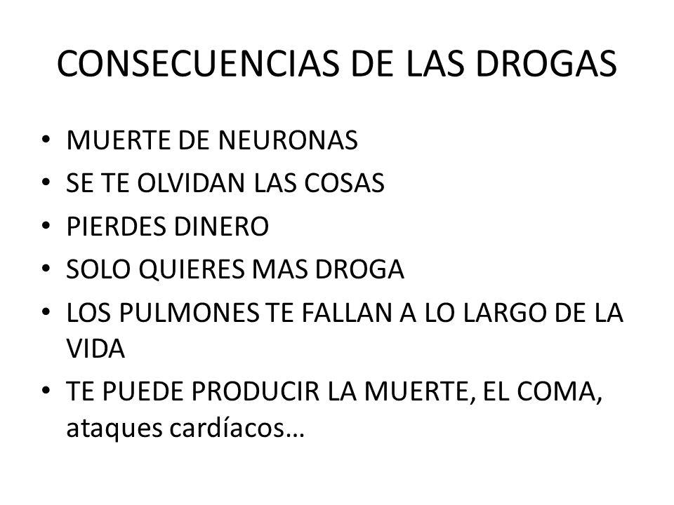 CONSECUENCIAS DE LAS DROGAS