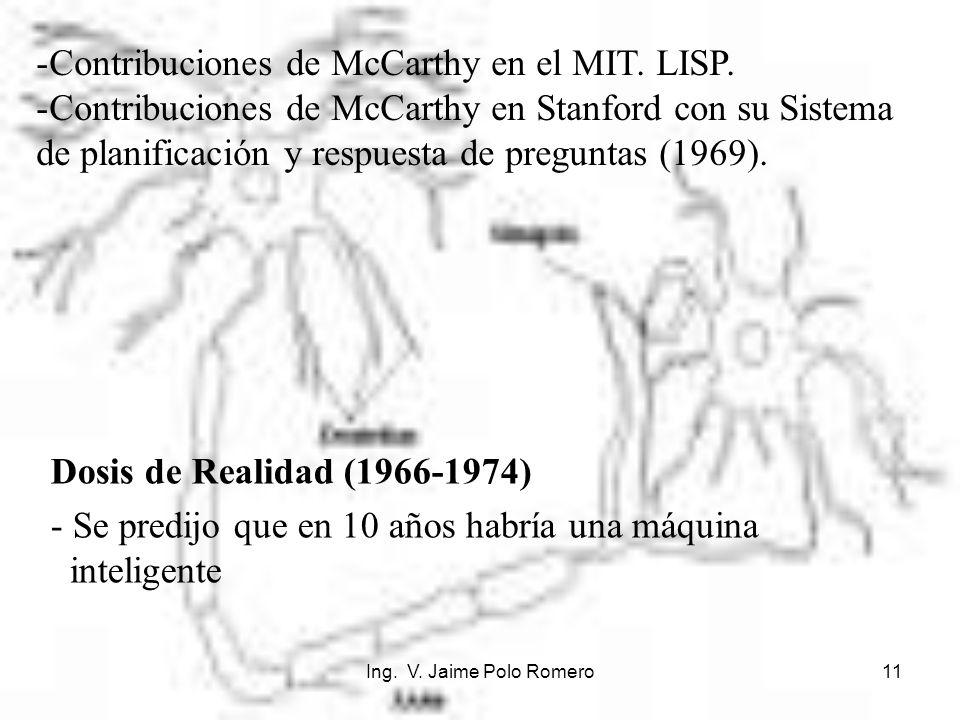 Contribuciones de McCarthy en el MIT. LISP.
