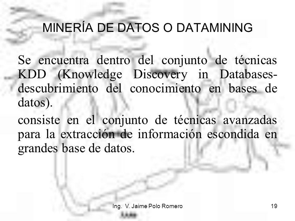 MINERÍA DE DATOS O DATAMINING