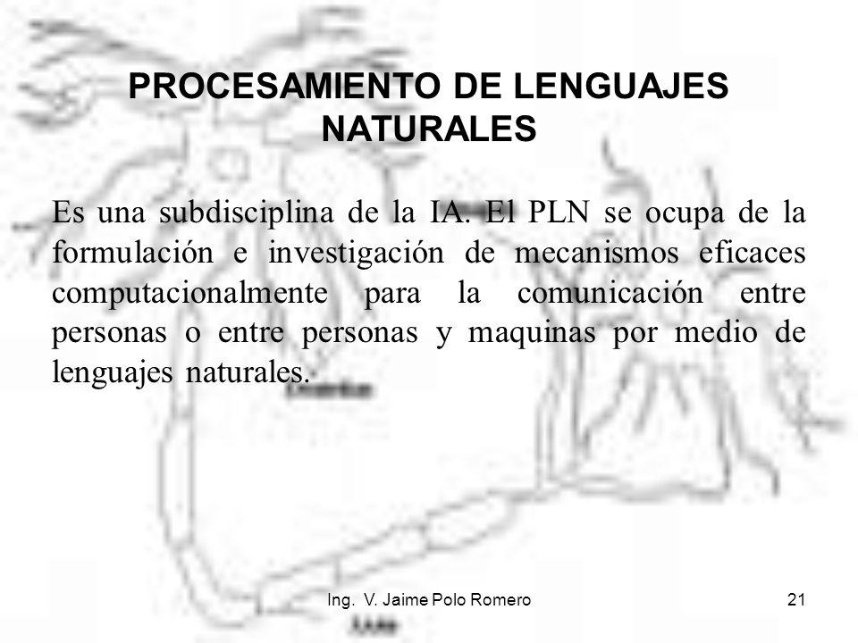 PROCESAMIENTO DE LENGUAJES NATURALES