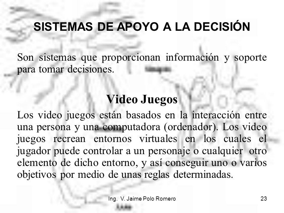 SISTEMAS DE APOYO A LA DECISIÓN