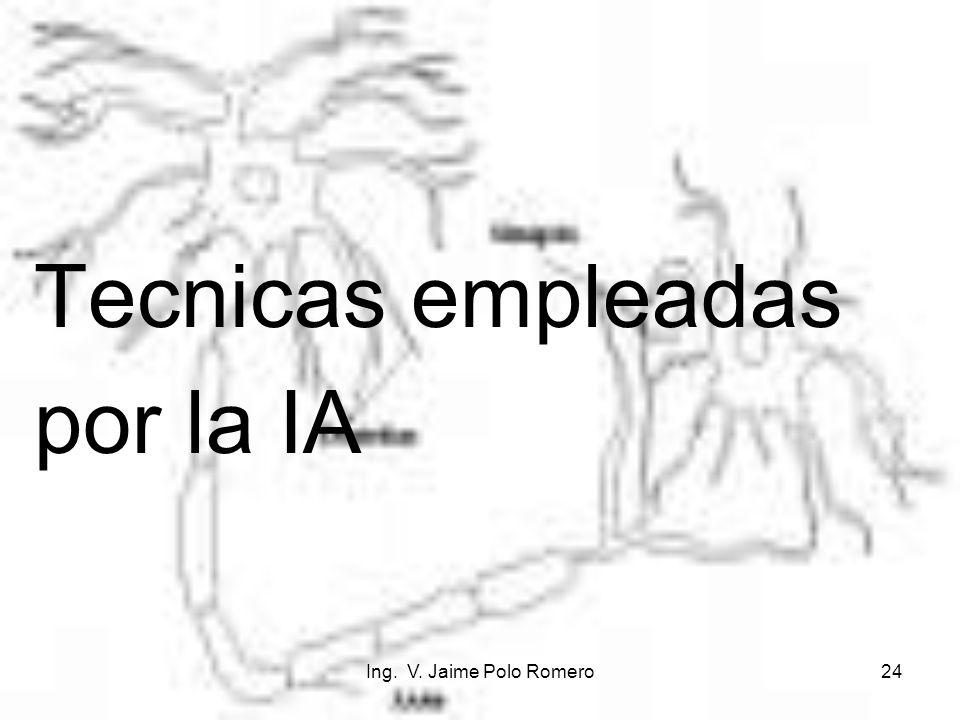 Tecnicas empleadas por la IA Ing. V. Jaime Polo Romero
