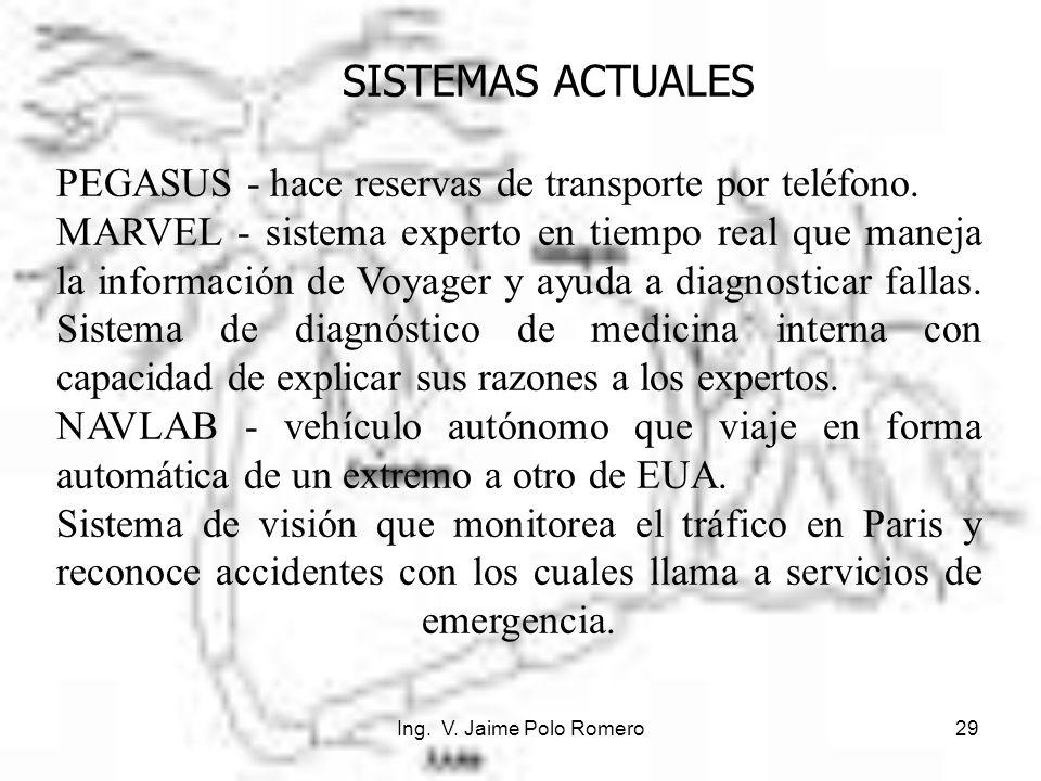 PEGASUS - hace reservas de transporte por teléfono.