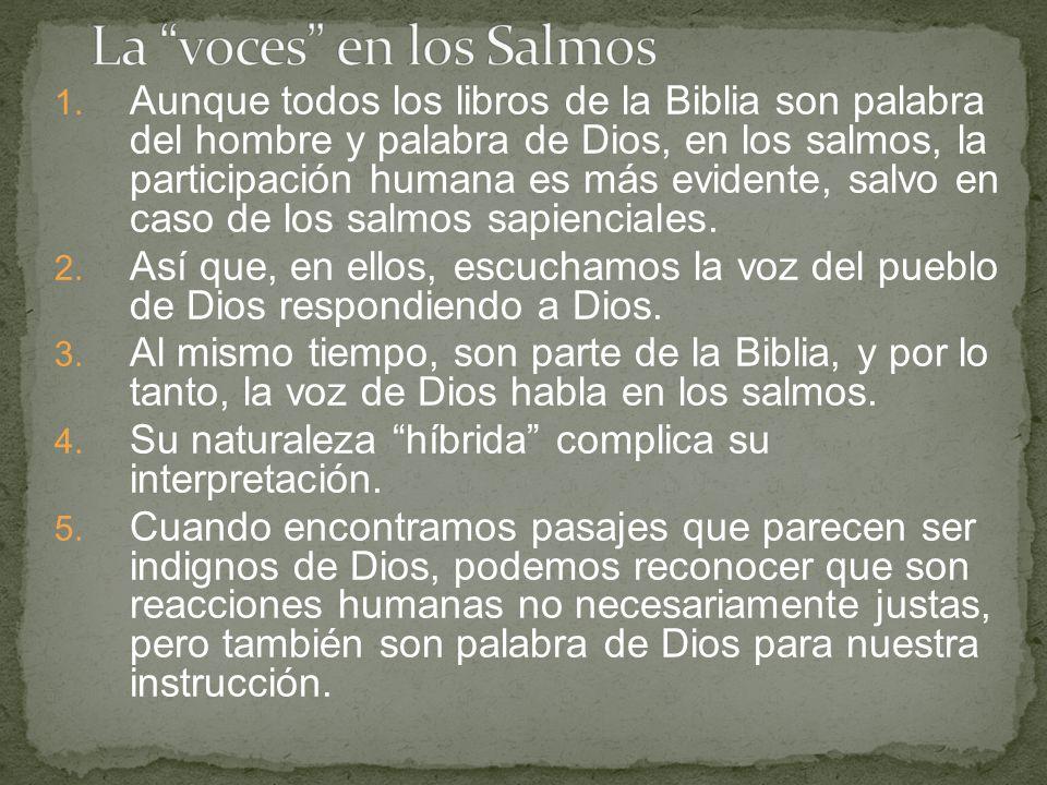 La voces en los Salmos