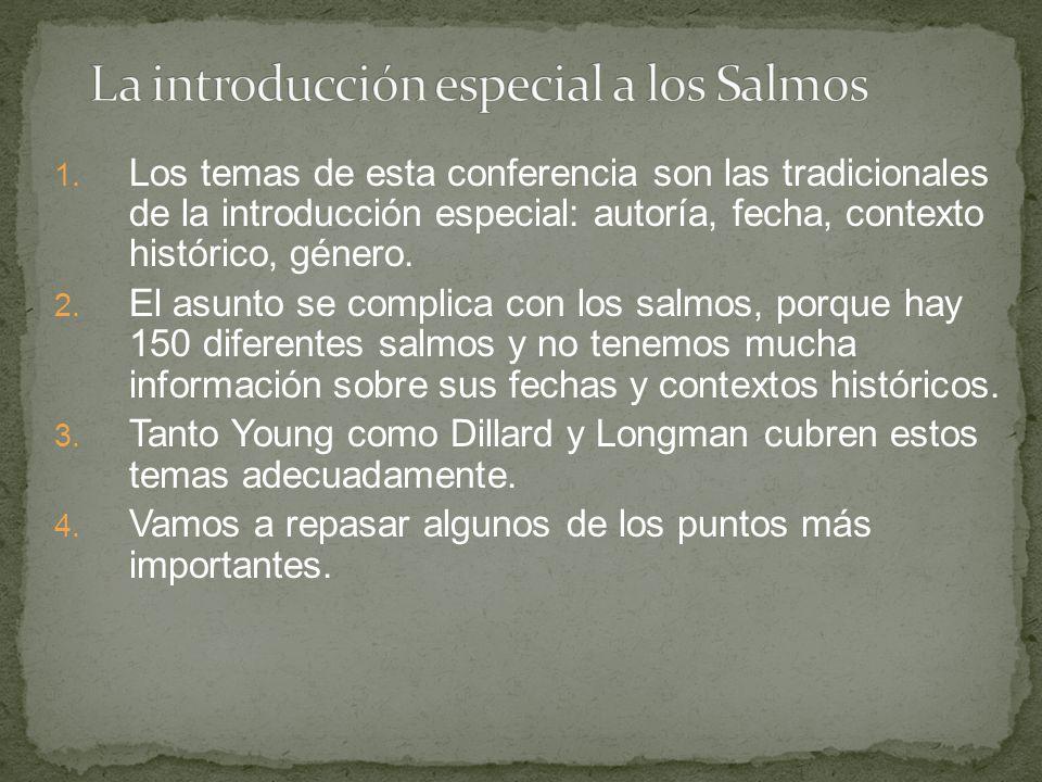 La introducción especial a los Salmos