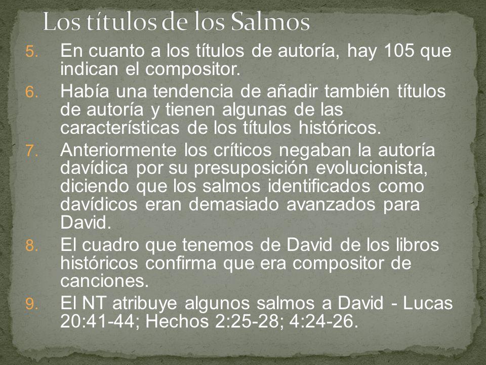 Los títulos de los Salmos