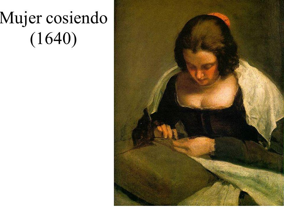 Mujer cosiendo (1640)