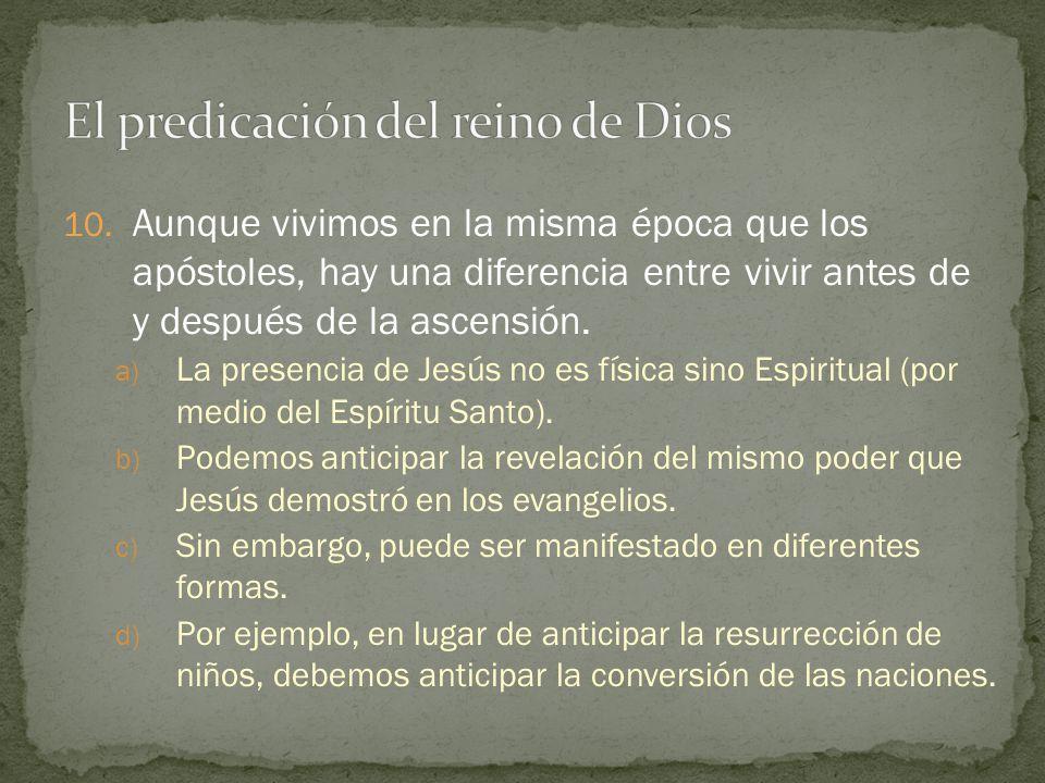 El predicación del reino de Dios