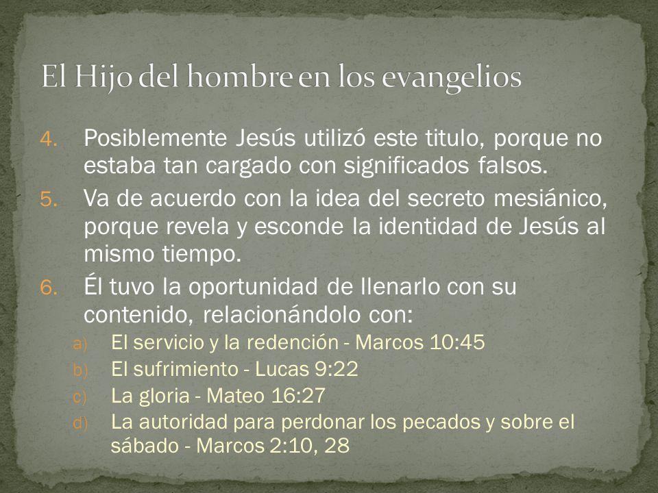 El Hijo del hombre en los evangelios