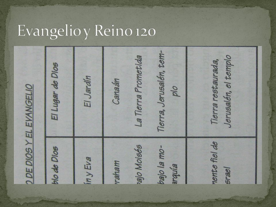 Evangelio y Reino 120