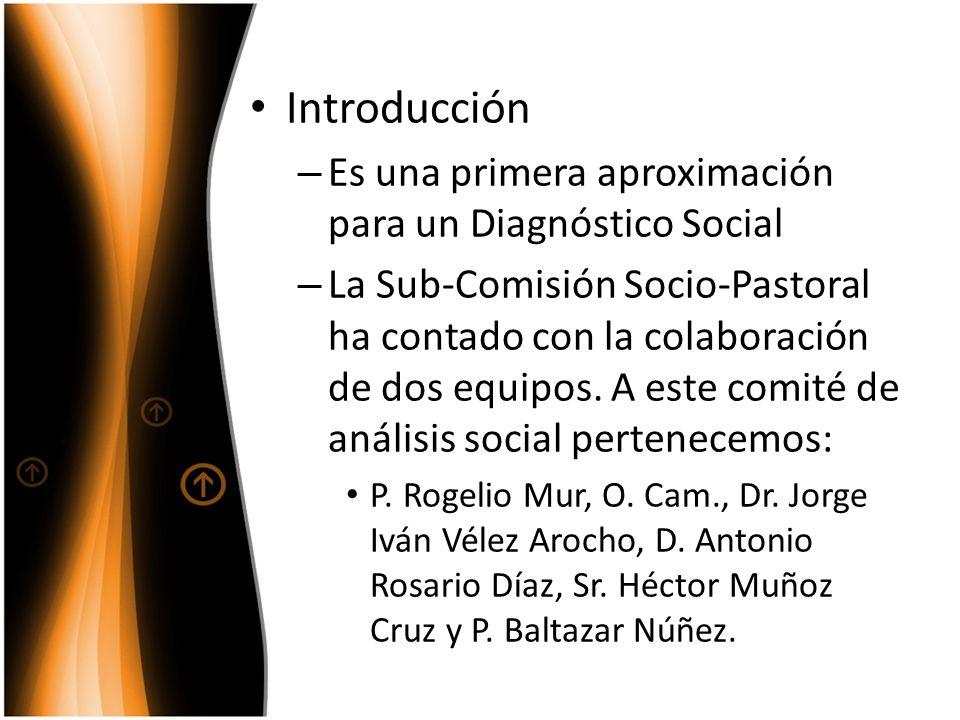 Introducción Es una primera aproximación para un Diagnóstico Social