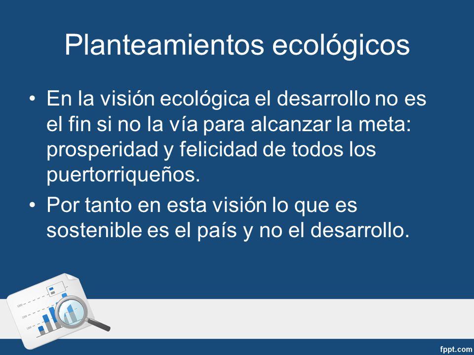 Planteamientos ecológicos