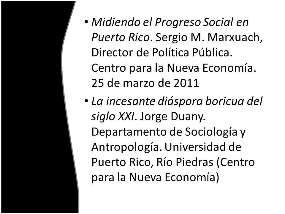 Midiendo el Progreso Social en Puerto Rico. Sergio M