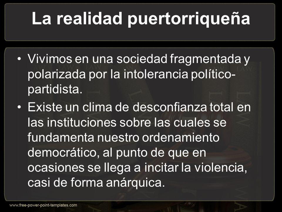 La realidad puertorriqueña