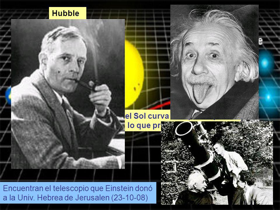 Hubble La masa del Sol curva el espacio que le rodea y es lo que produce la atracción.