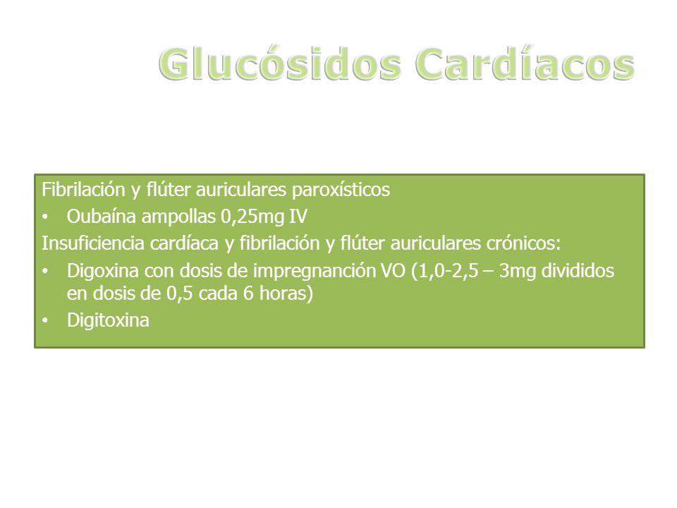 Glucósidos Cardíacos Fibrilación y flúter auriculares paroxísticos