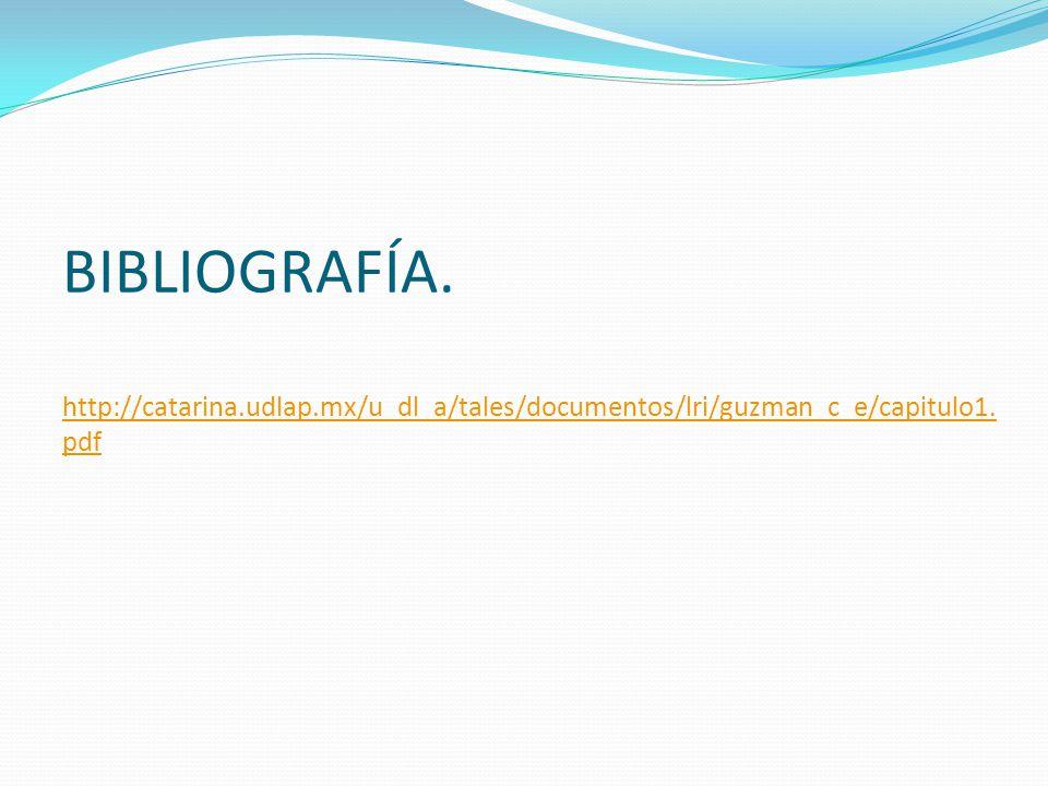 BIBLIOGRAFÍA. http://catarina. udlap
