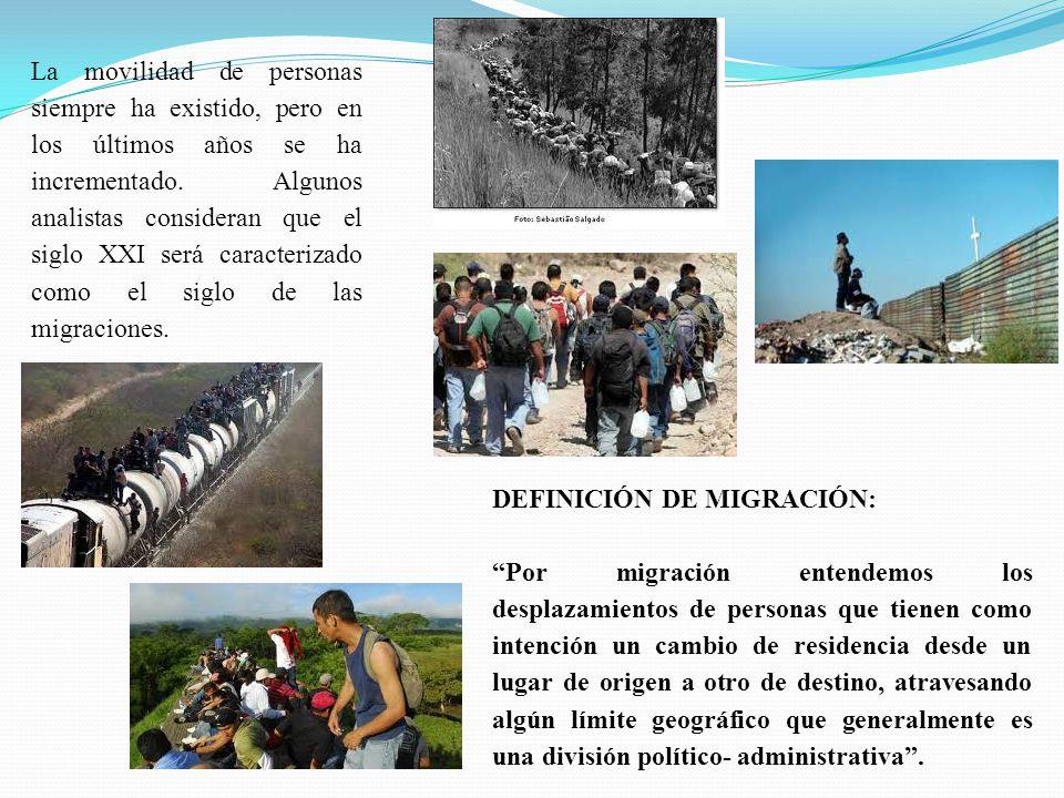 La movilidad de personas siempre ha existido, pero en los últimos años se ha incrementado. Algunos analistas consideran que el siglo XXI será caracterizado como el siglo de las migraciones.