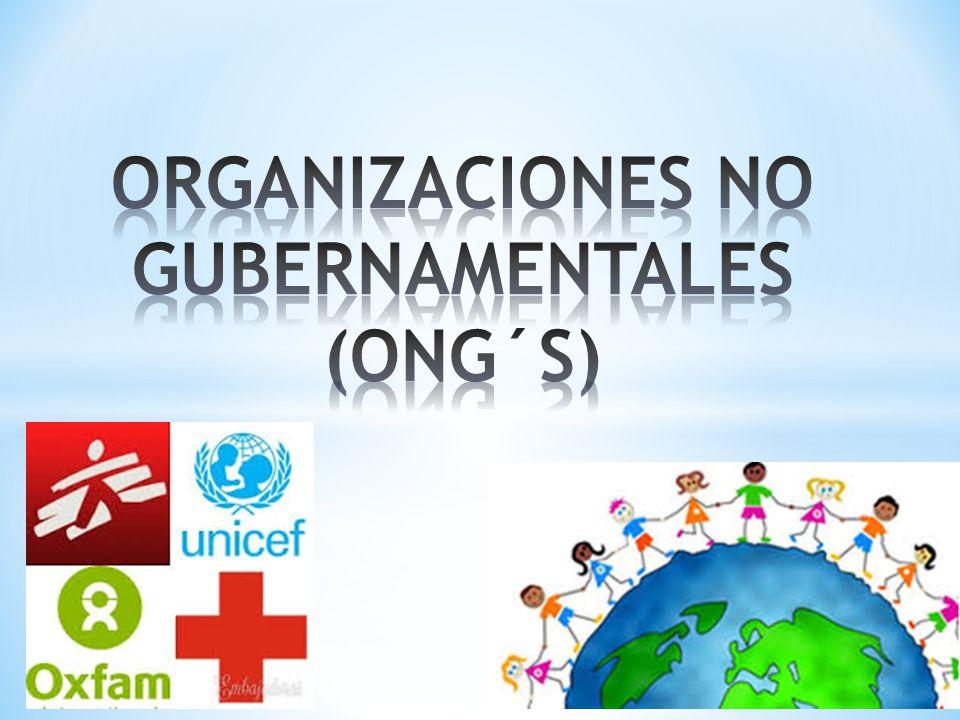 ORGANIZACIONES NO GUBERNAMENTALES (ONG´S)