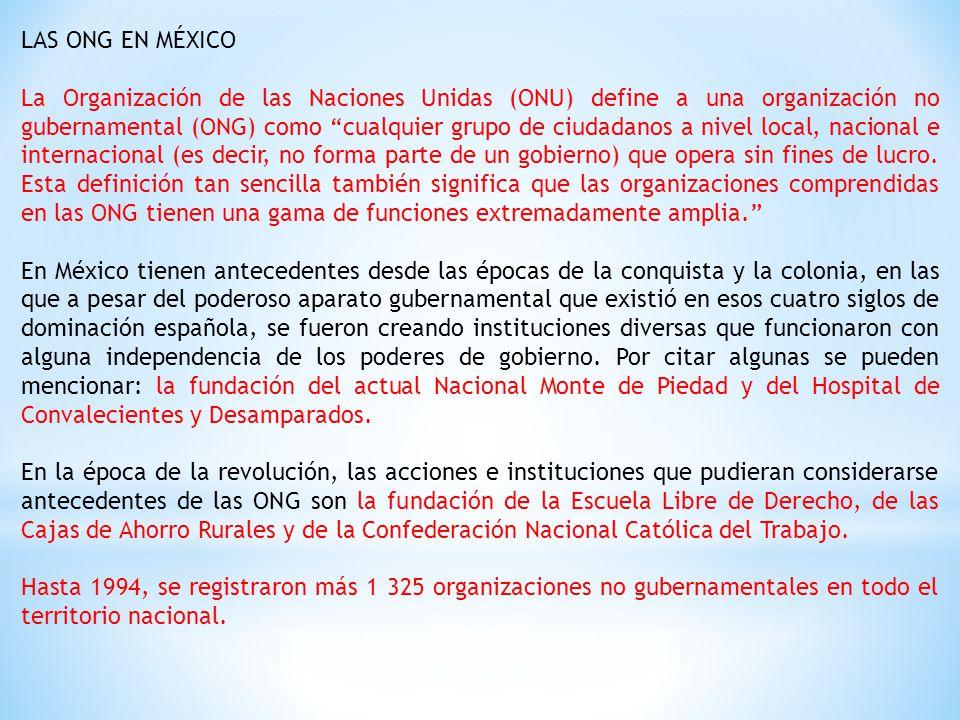 LAS ONG EN MÉXICO