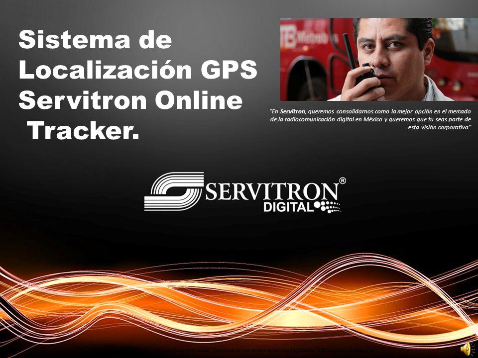 Localización GPS Servitron Online Tracker.