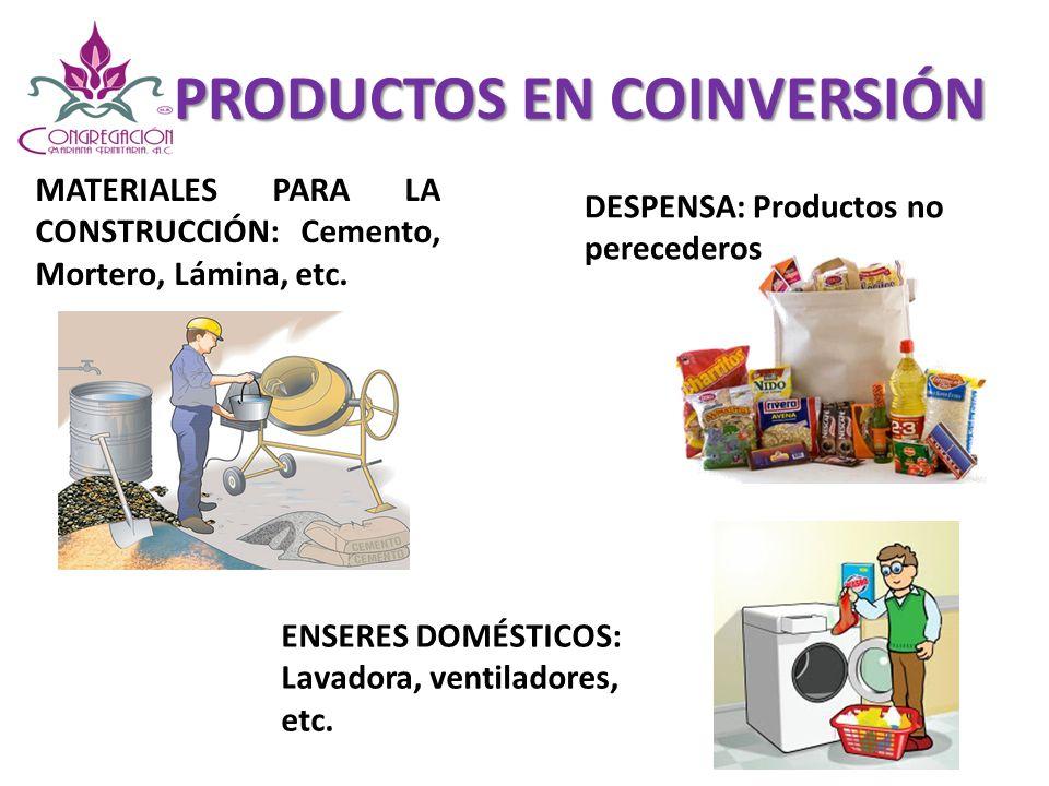 PRODUCTOS EN COINVERSIÓN