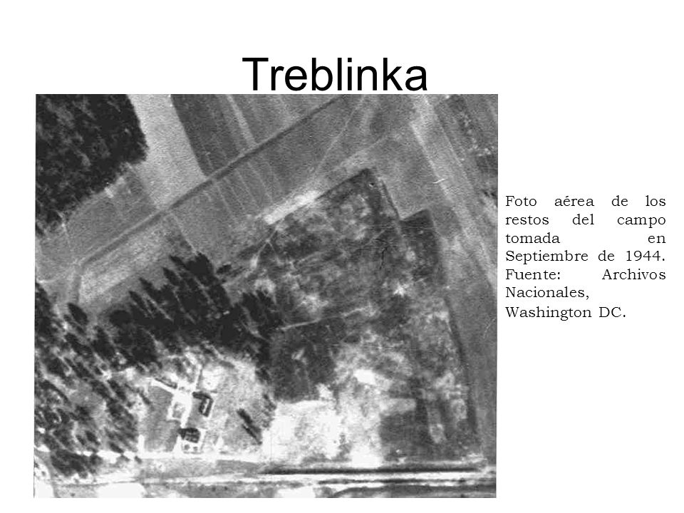 Treblinka Foto aérea de los restos del campo tomada en Septiembre de 1944. Fuente: Archivos Nacionales, Washington DC.