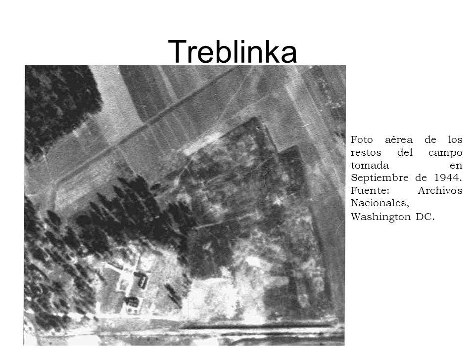 TreblinkaFoto aérea de los restos del campo tomada en Septiembre de 1944. Fuente: Archivos Nacionales, Washington DC.