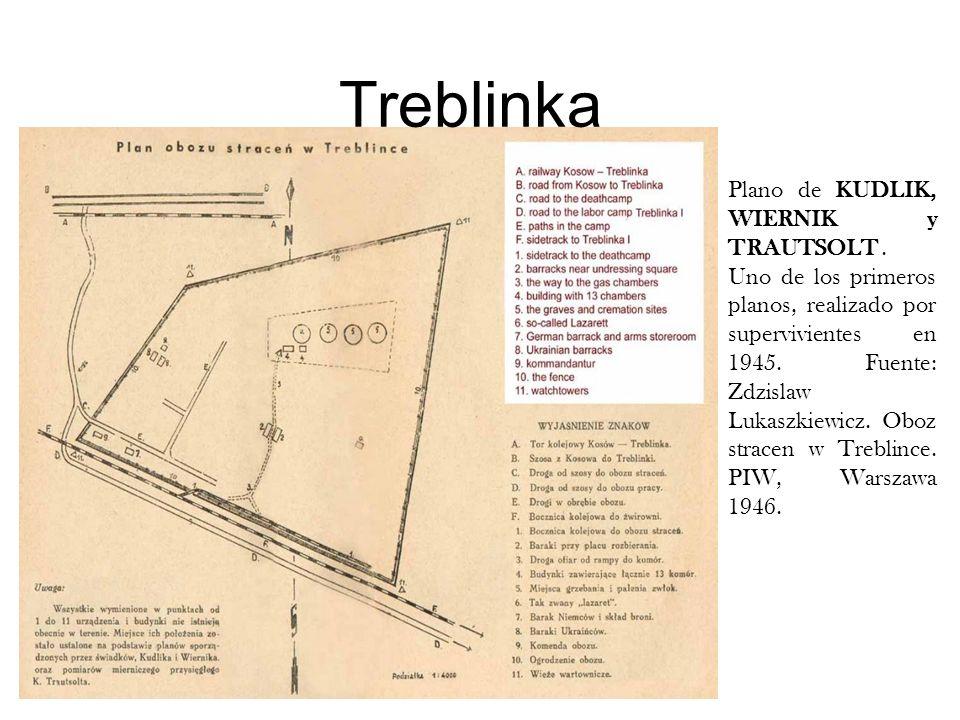 Treblinka Plano de KUDLIK, WIERNIK y TRAUTSOLT .
