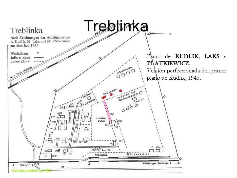 Treblinka Plano de KUDLIK, LAKS y PLATKIEWICZ.