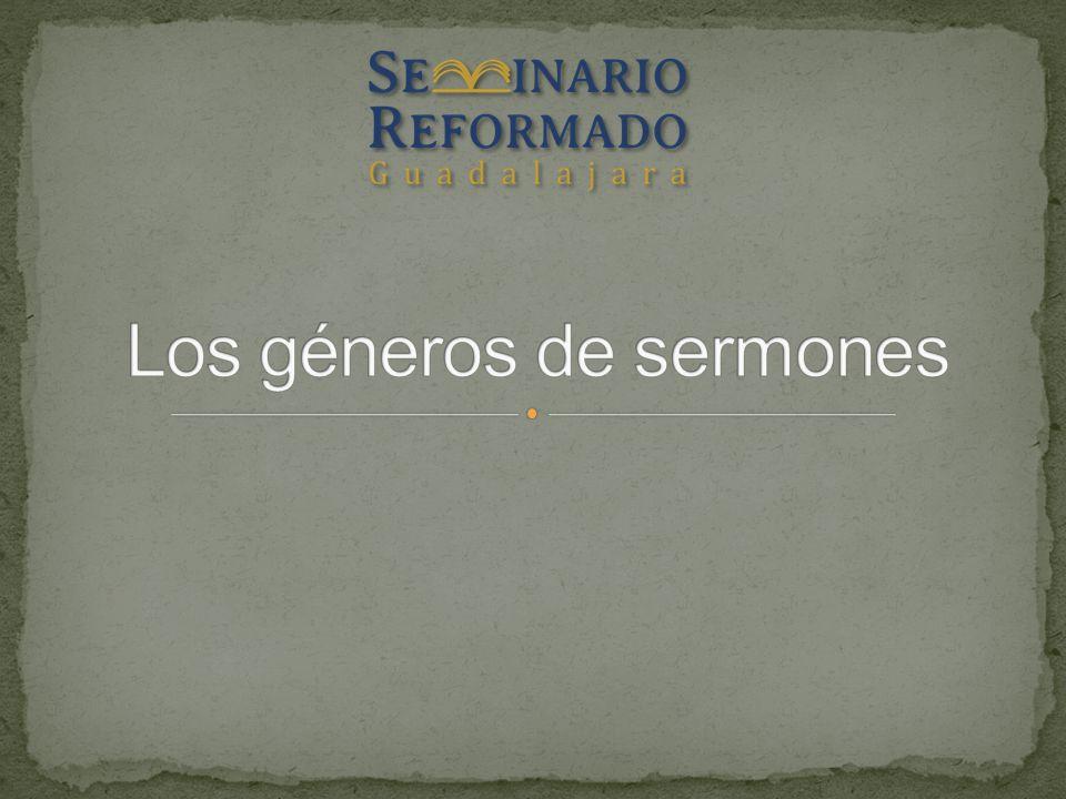 Los géneros de sermones