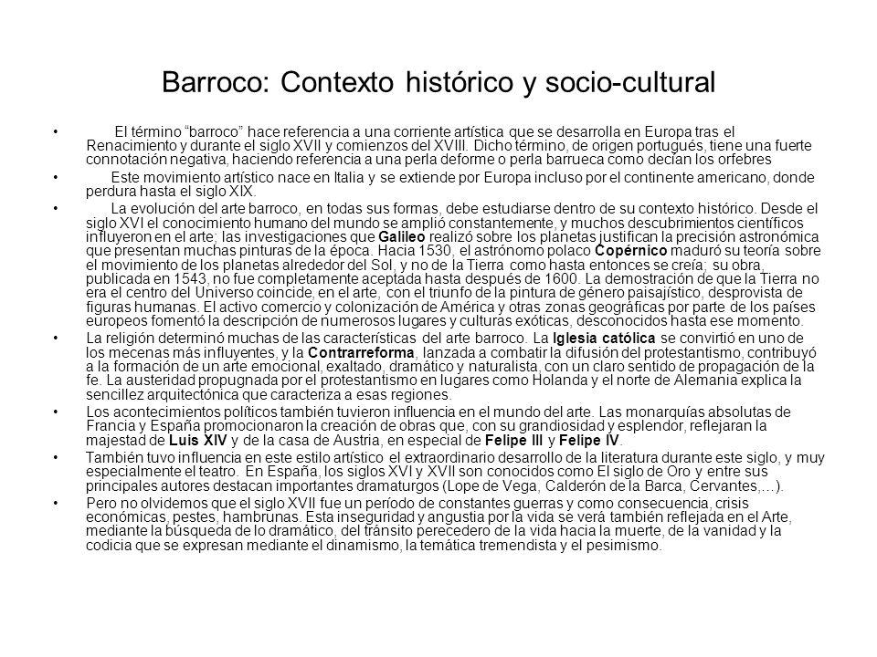 Barroco: Contexto histórico y socio-cultural