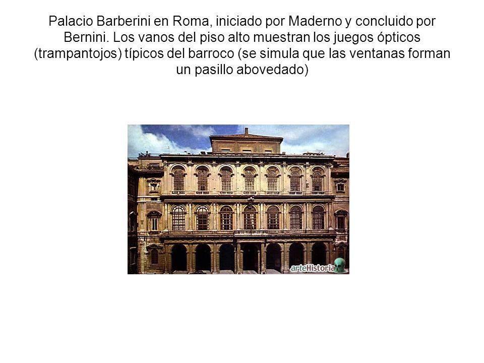 Palacio Barberini en Roma, iniciado por Maderno y concluido por Bernini.