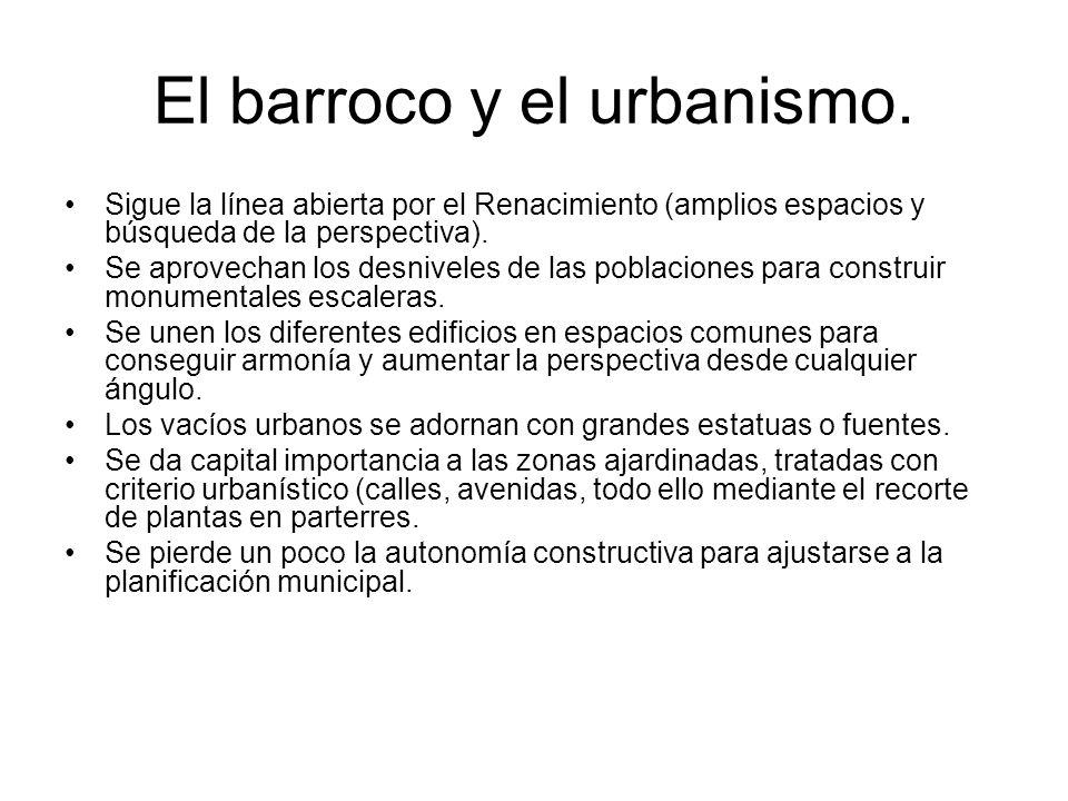 El barroco y el urbanismo.