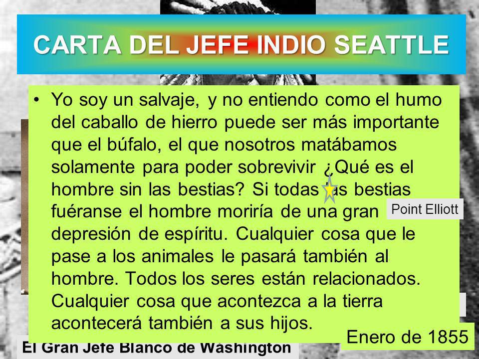 CARTA DEL JEFE INDIO SEATTLE