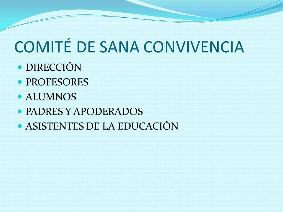 COMITÉ DE SANA CONVIVENCIA