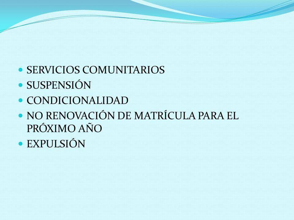SERVICIOS COMUNITARIOS
